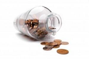 La botella y la moneda